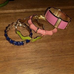 Jewelry - 4 enamel bracelets